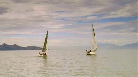Two sailboats on the Great Salt Lake