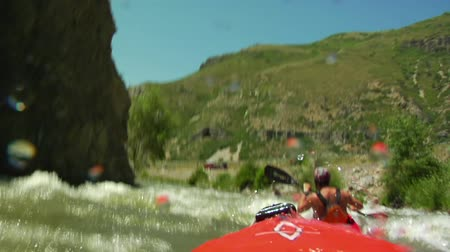 kayak : POV white water kayaking Stock Footage