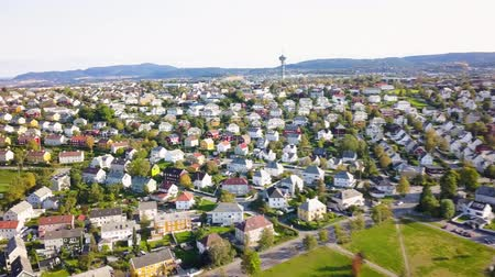 trondheim : Aerial Capture of Trondheim city, Norway - Sunny Summer Day