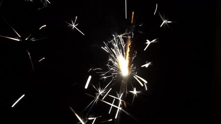 Бенгалия : Sparkler closeup slow motion