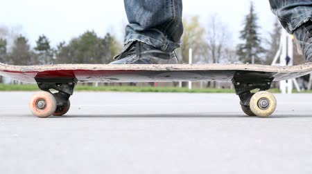 deskorolka : The young man carries out trick on a skateboard. HD1080p.  Wideo