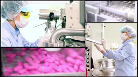 manufactura : INDUSTRIA MÉDICA PASTILLAS - MONTAJE Archivo de Video