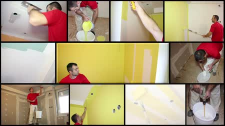 bydlení : Painting Contractor at Work - Interior Decoration