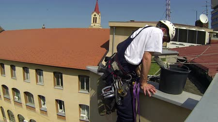 cleaning equipment : Urban Climber Stock Footage