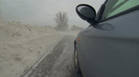 deep snow : Driving Through Snow Drifts