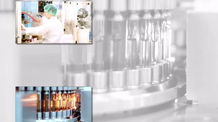 pharmaceuticals : Pharmaceutical and Medicine Manufacturing Stock Footage
