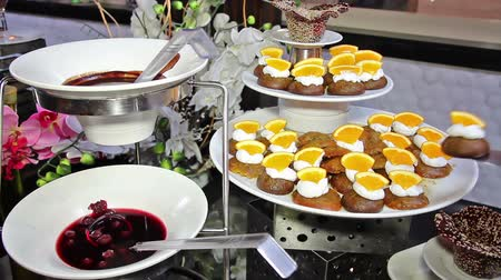 wedding cake : Dessert buffet table at all inclusive hotel restaurant