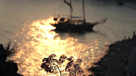 древний : Sailing Ship at Sunset