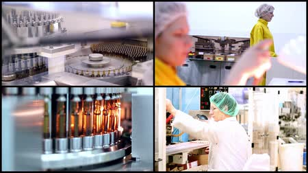 pharmaceuticals : Pharmaceutical Manufacturing - Medical Ampules Stock Footage