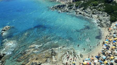 grecja : Famous Orange Beach, Portokali Beach, Kavourotrypes, Sithonia, Halkidiki, Greece
