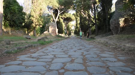 archeologie : View of Appia Ancient ancient Roman road