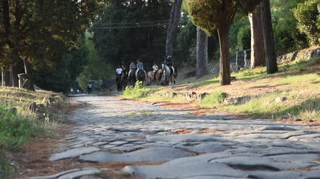 ruiny : View of Appia Ancient ancient Roman road