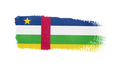nádech : Central African Republic flag painted with a brush stroke Dostupné videozáznamy