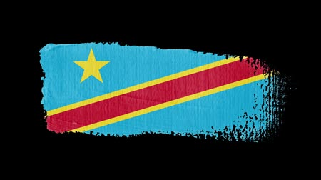 nádech : Democratic Republic of the Congo flag painted with a brush stroke