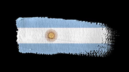 Argentina flag painted with a brush stroke Stok Video