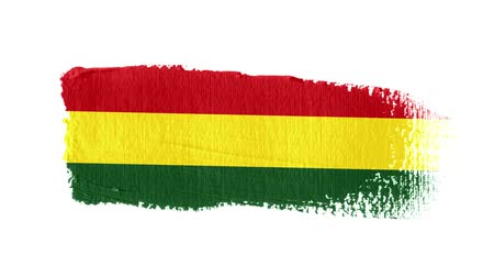 Bolivia flag painted with a brush stroke