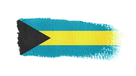 Bahamas flag painted with a brush stroke