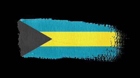 nádech : Bahamas flag painted with a brush stroke