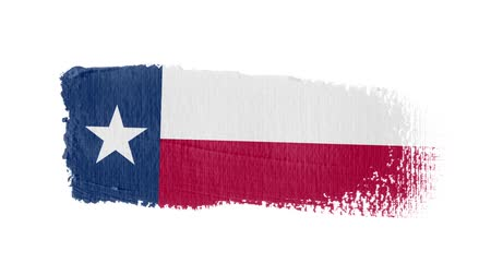 Texas flag painted with a brush stroke