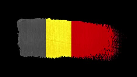 Belgium flag painted with a brush stroke