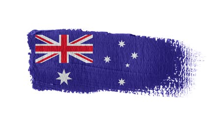 Australia flag painted with a brush stroke