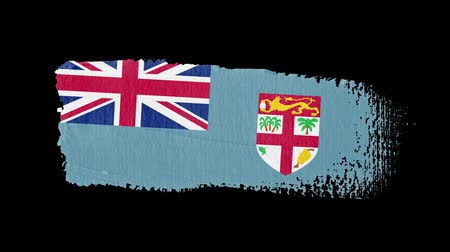 Fiji flag painted with a brush stroke