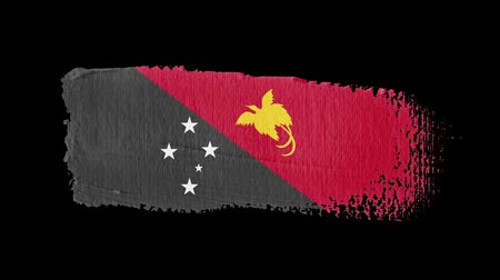 nádech : Papua New Guinea flag painted with a brush stroke