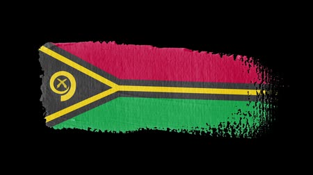 Vanuatu flag painted with a brush stroke