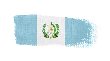 Guatemala flag painted with a brush stroke Stok Video