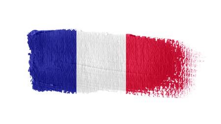 France flag painted with a brush stroke