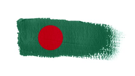 Bangladesh flag painted with a brush stroke
