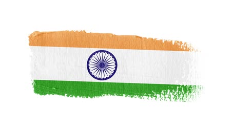 India flag painted with a brush stroke