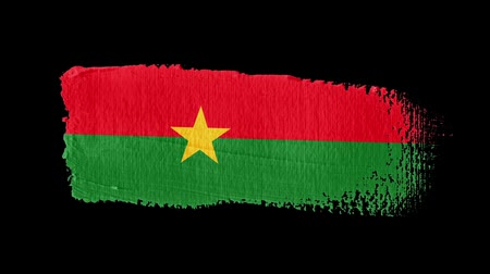 Burkina Faso flag painted with a brush stroke