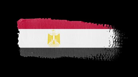 Egypt flag painted with a brush stroke