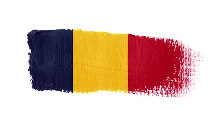 Chad flag painted with a brush stroke