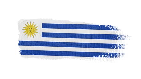 nádech : Uruguay flag painted with a brush stroke