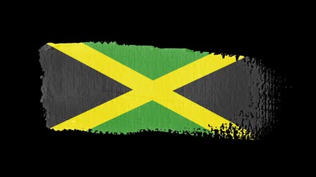 nádech : Jamaica flag painted with a brush stroke