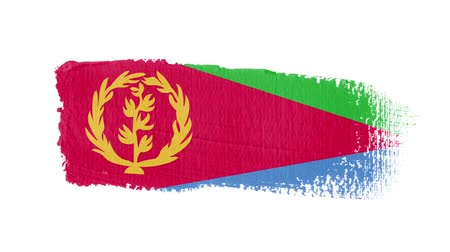 regioni : Eritrea flag painted with a brush stroke