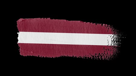 イラストレーションと絵画 : Latvia flag painted with a brush stroke