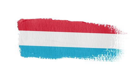luxemburg : Luxembourg flag painted with a brush stroke Stockvideo