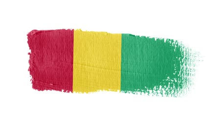 regioni : Guinea flag painted with a brush stroke