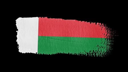 madagaskar : Madagascar flag painted with a brush stroke