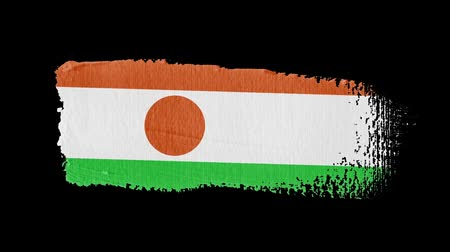 niger : Niger flag painted with a brush stroke