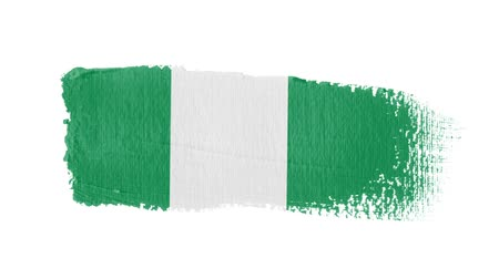 nádech : Nigeria flag painted with a brush stroke