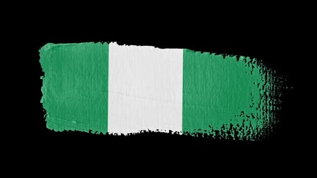 nigeria flag : Nigeria flag painted with a brush stroke