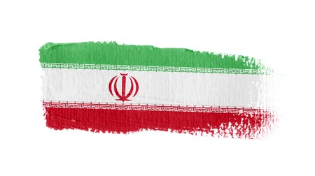 regioni : Iran flag painted with a brush stroke