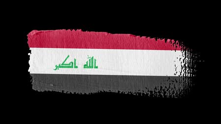 irak : Iraq flag painted with a brush stroke