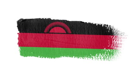 malawi : Malawi flag painted with a brush stroke