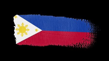 pintado : Philippines flag painted with a brush stroke