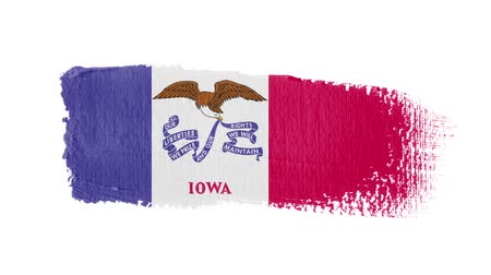 iowa : Iowa flag painted with a brush stroke